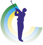 Golf en siluethe vector illustratie