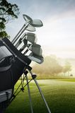 Golf equipment on the course Stock Photo