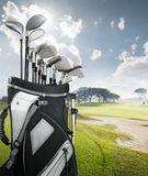 Golf equipment at the course Stock Image