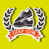 Golf equipment design. Illustration eps10 graphic Royalty Free Stock Image