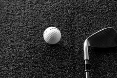 Golf. Equipment side by side Royalty Free Stock Images