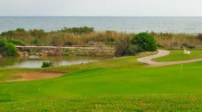Golf et mer Photographie stock libre de droits