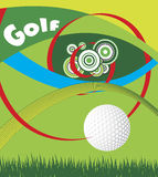 Golf eye Stock Photo