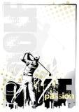 golf för 3 bakgrund Arkivfoto