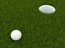 golf för bollfält Fotografering för Bildbyråer