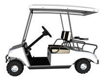 golf för vagn 3d framför Fotografering för Bildbyråer
