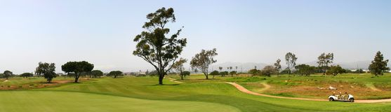 Golf Fairway. Panoramic shot of a golf fairway near Ventura Royalty Free Stock Image