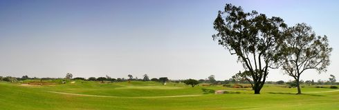 Golf Fairway. Panoramic shot of a golf fairway near Ventura Stock Photo