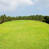 Golf fairway with nice sky. Golf couse concept Stock Photo