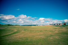 Golf fairway in nova scotia. Clouds above the fairway in Cabot links in Nova Scotia Stock Images