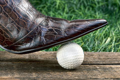 Golf and Fashion. Royalty Free Stock Photography