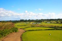 Golf-Feld stockfoto