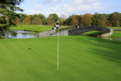 Golf field. In Adare - Ireland with flag Stock Photography