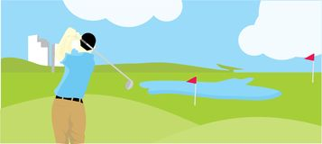 Golf on the field Royalty Free Stock Image