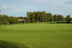 Golf field. Beautiful greenery view of golf field Stock Photography