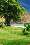 Golf field. Near tropical resort Stock Image
