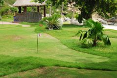 Golf field. Near tropical resort Stock Photo