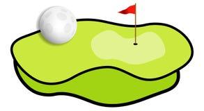 Golf field. Illustration for green golf field Royalty Free Illustration