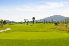 Golf field Royalty-vrije Stock Afbeeldingen