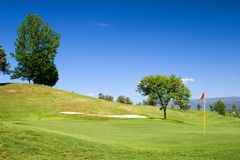 Golf Field. 18th hole royalty free stock images