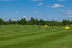 Golf field active leisure. Golf club field grass course active leisure stock photos