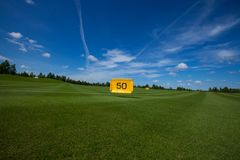 Golf field active leisure. Golf club field grass course active leisure royalty free stock photo