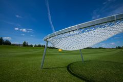Golf field active leisure. Golf club field grass course active leisure sky network stock images