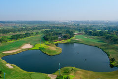Golf field aerial Stock Image