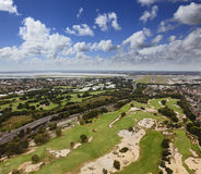 Golf field aerial Royalty Free Stock Photo