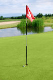 Golf field with ball Royalty Free Stock Photos