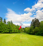 Golf field. european landscape Stock Image