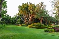 Golf field landscape. Golf field landscape in thailand Stock Photography