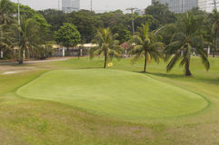 Golf field. In Manila, Philippines Royalty Free Stock Image
