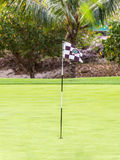 Golf field on Mauritius island Stock Photo