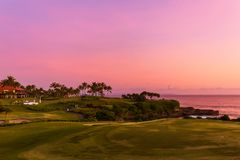 Golf field near Tanah Lot Temple - Bali Indonesia Royalty Free Stock Image