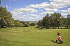 Golf field in Portugal. Golf field in the Algarve in Portugal Royalty Free Stock Photo