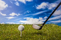 Golf field, sport equipment Stock Photography