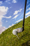 Golf field, sport equipment Royalty Free Stock Photography