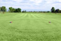 Golf field tee area Stock Photos
