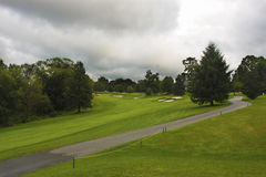 Golf field. Before thunder storm Royalty Free Stock Photo