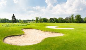 Golf fields Royalty Free Stock Images