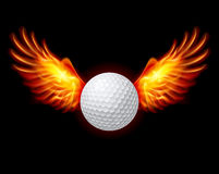 Golf-Fiery wings. A color illustration on a black background Royalty Free Stock Images