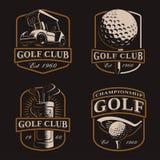 Golf fijado en fondo oscuro Fotos de archivo libres de regalías