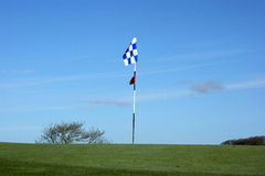 Golf flag royalty free stock image