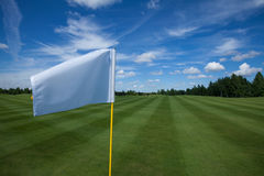 Golf flag active leisure. Golf flag club field grass course active leisure royalty free stock image