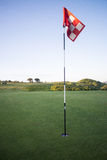 Golf flag in cornwall uk England kernow Stock Photo