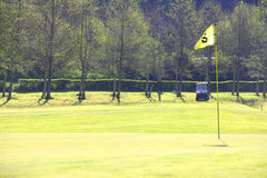 Golf flag on course Royalty Free Stock Image