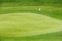 Golf flag on the green grass Royalty Free Stock Images