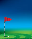 Golf flag and hole Royalty Free Stock Photos