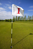 Golf flag no. one Royalty Free Stock Photos